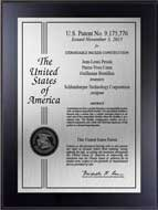 Value Patent Plaques-Wood Finish-Certificate