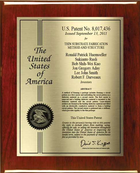 Patent Plaques-Certificate Series-Large