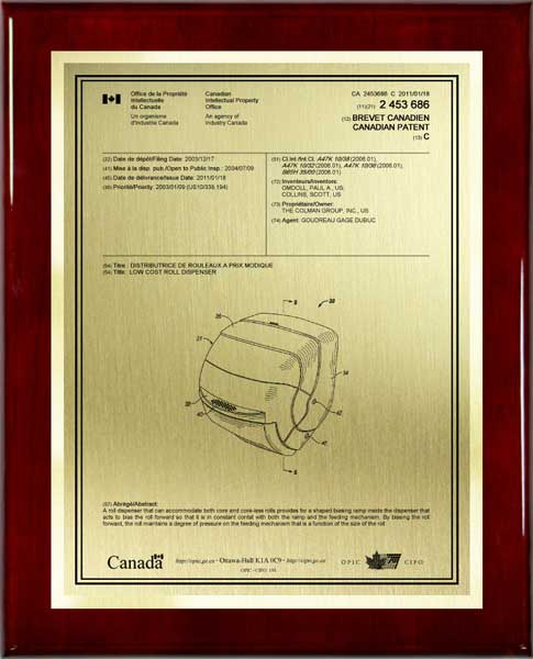 Patent Plaques-International Series-Large