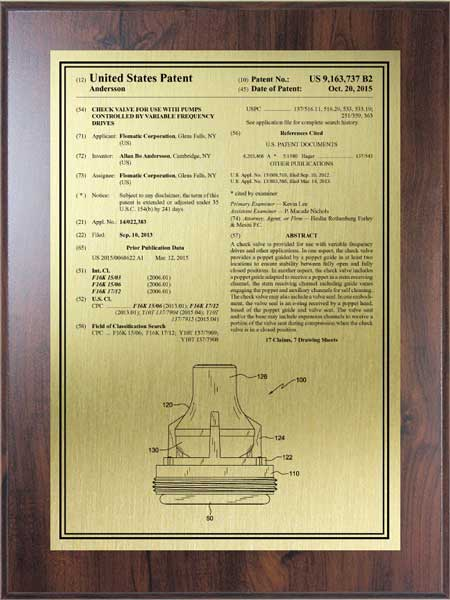 Patent Plaques-Value Series-Large