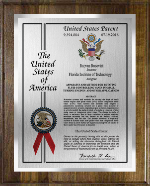 patent plaque-eagle-pb-wal-sil-cer-sil