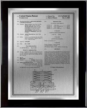 patent plaque-front page-onx-trm-sil